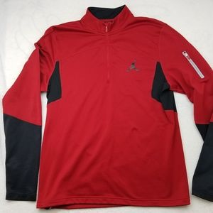 Jordan Red Black Pullover Long Sleeve Shirt Large